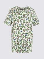 Kadın Multi Renk Desenli Kısa Kollu T-Shirt