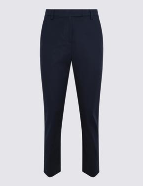 Kadın Lacivert 7/8 Pamuklu Pantolon
