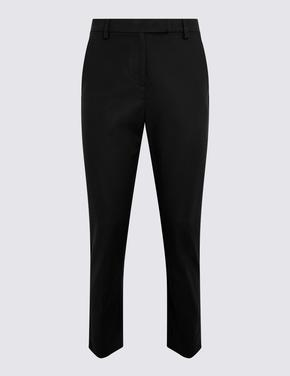 Kadın Siyah 7/8 Pamuklu Pantolon