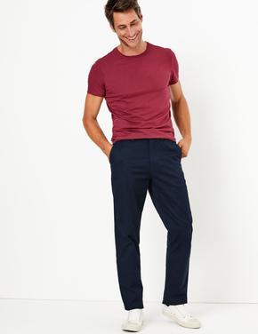 Erkek Lacivert Regular Fit Chino Pantolon