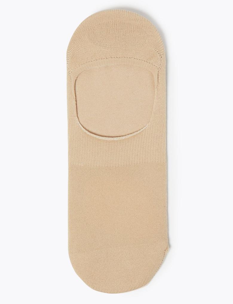 Kadın Bej 2'li Body Sensor™ Babet Çorabı Seti