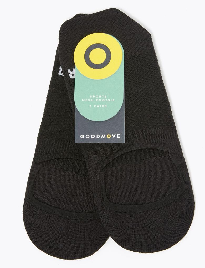 Kadın Siyah 2'li Active Çorap Seti