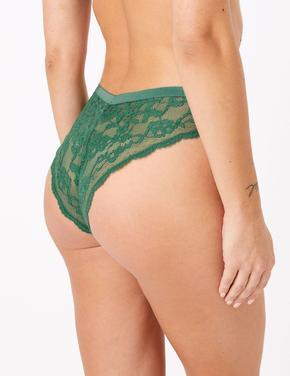 Kadın Yeşil Dantelli Miami Külot