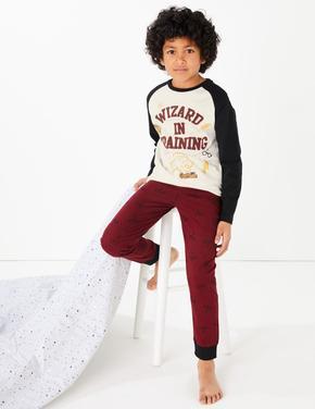 Çocuk Kırmızı Harry Potter™ Desenli Pijama Takımı