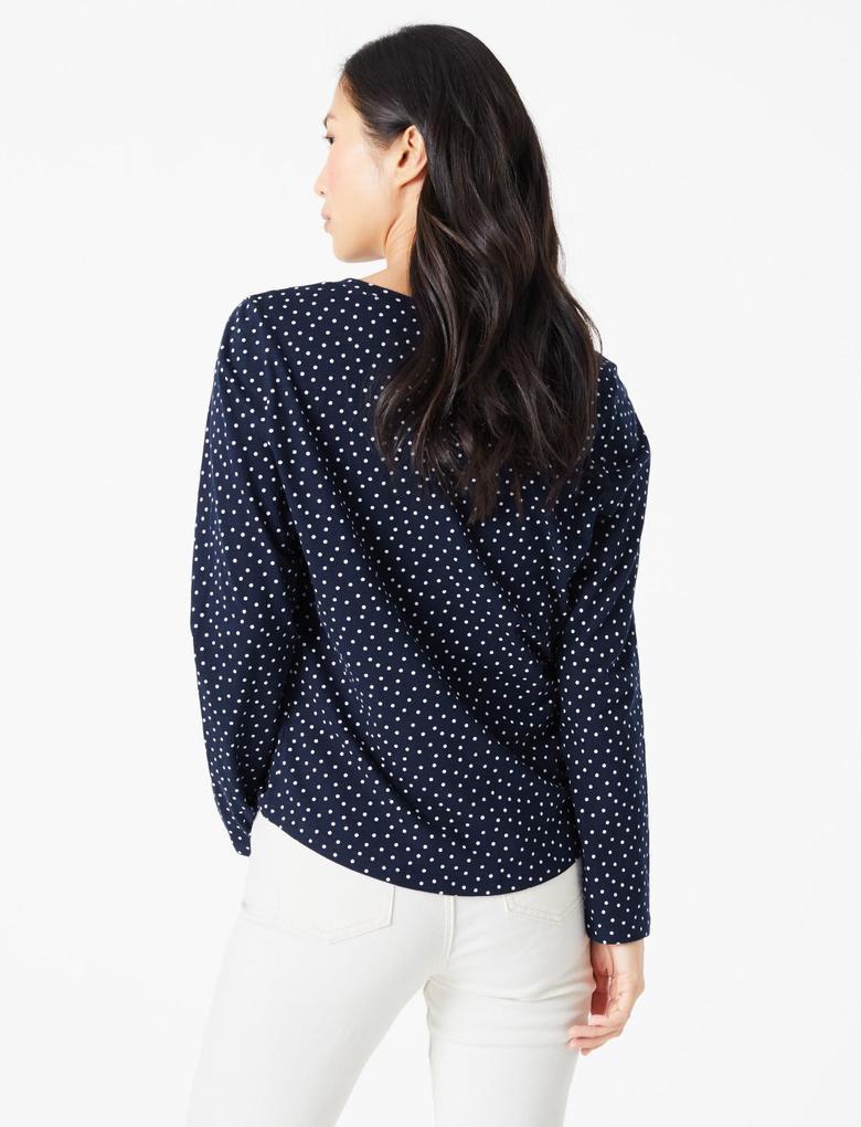 Kadın Koyu lacivert Uzun Kollu Popover Gömlek
