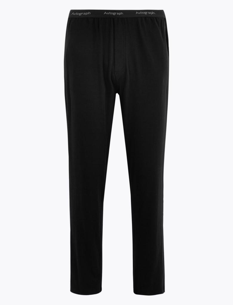 Erkek Siyah Luxury Supersoft Supima® Pijama Altı