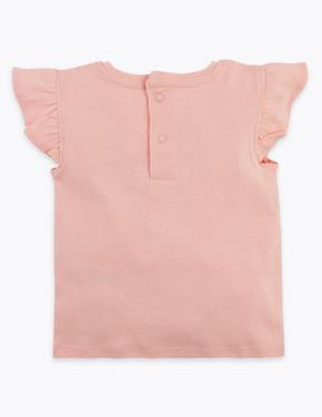 Bebek Pembe Ananas Desenli T-Shirt