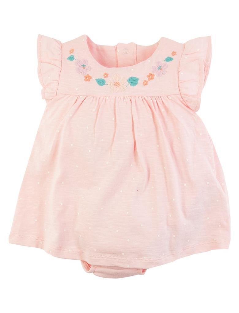 Bebek Pembe Puantiyeli Body Elbise