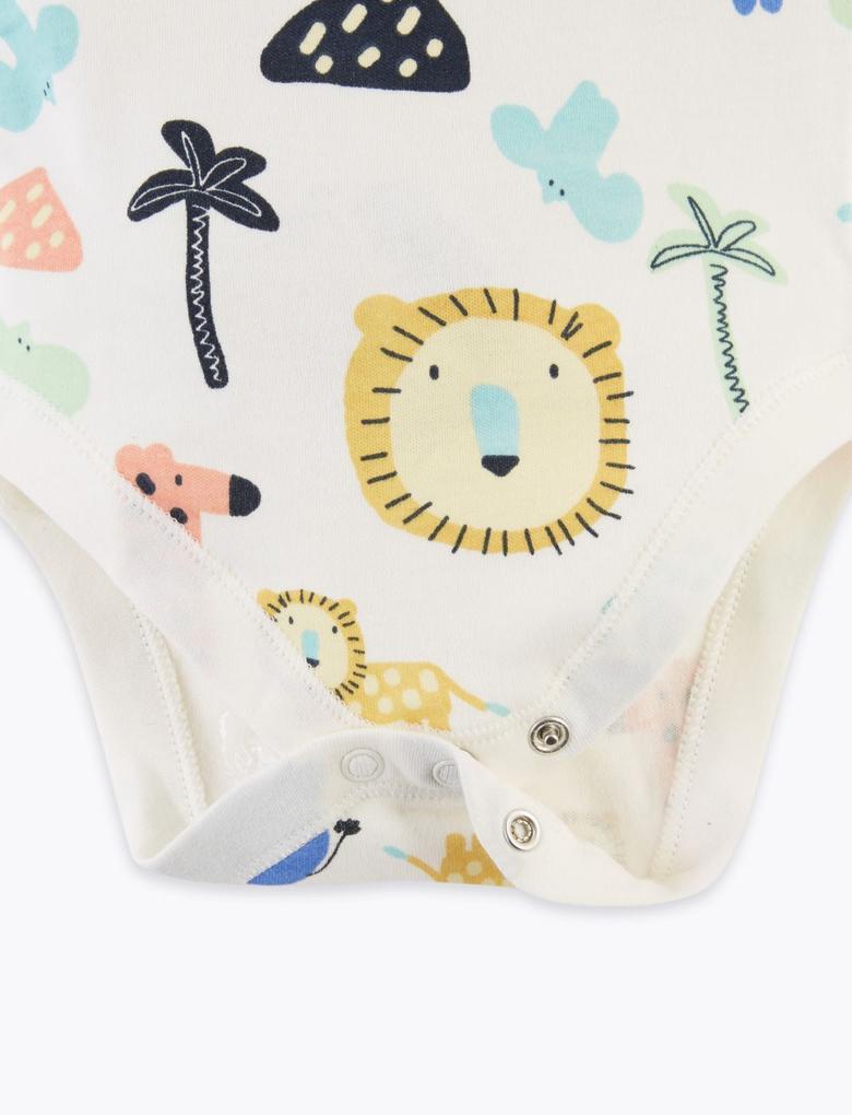 Bebek Multi Renk 5'li Organik Pamuklu Body Seti