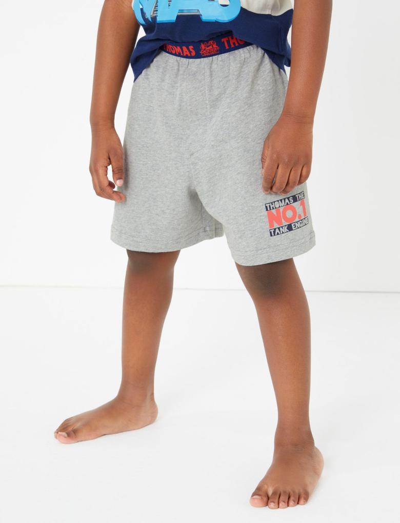Çocuk Kırmızı Thomas & Friends™ Saf Pamuklu Pijama Takımı