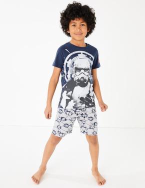 Çocuk Lacivert Star Wars™ Desenli Pijama Takımı