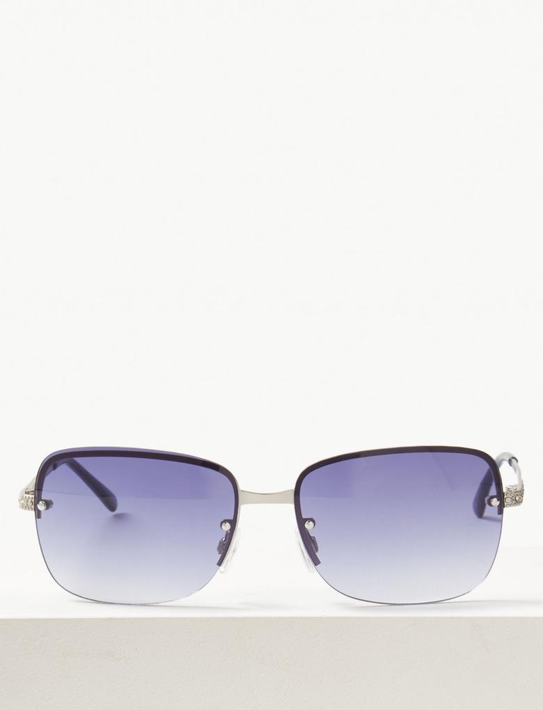 Kadın Mavi Çerçevesiz Güneş Gözlüğü