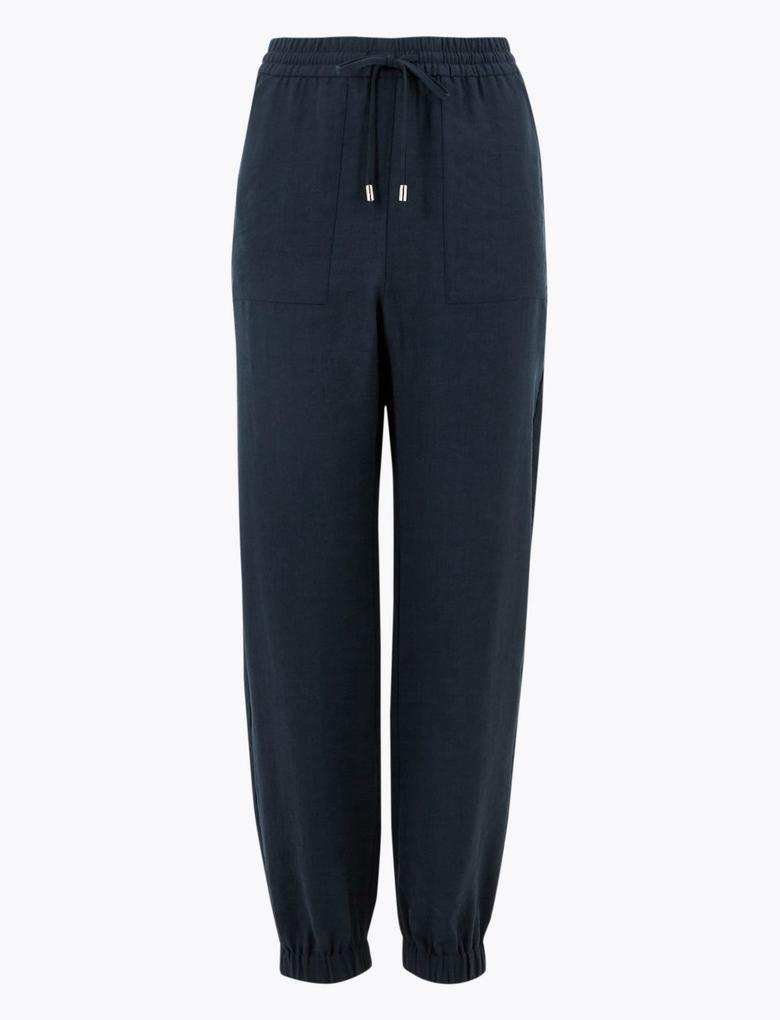 Kadın Lacivert Tencel™ Utility Tapered Pantolon