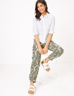 Kadın Yeşil Tencel™ Utility Tapered Pantolon