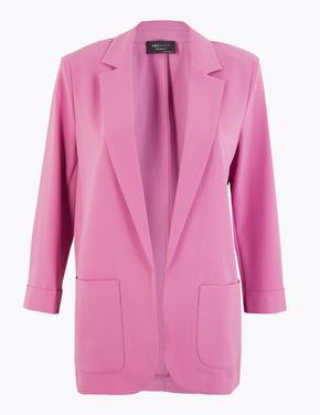 Kadın Mor Relaxed Blazer Ceket