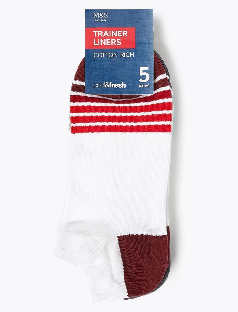 Erkek Beyaz 5'li Cool & Fresh™ Spor Çorabı Seti