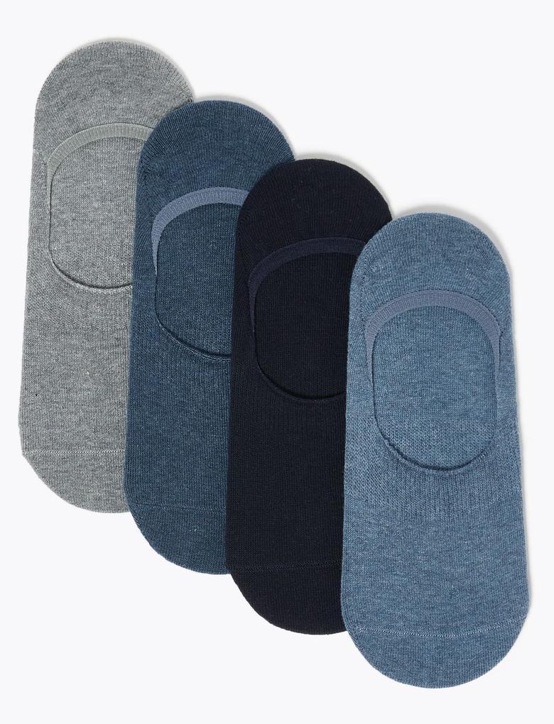 Erkek Mavi 4'lü Cool & Freshfeet™ Spor Çorabı Seti