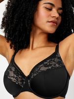 Kadın Siyah 2'li Dantel Detaylı Full Cup Sütyen F-H