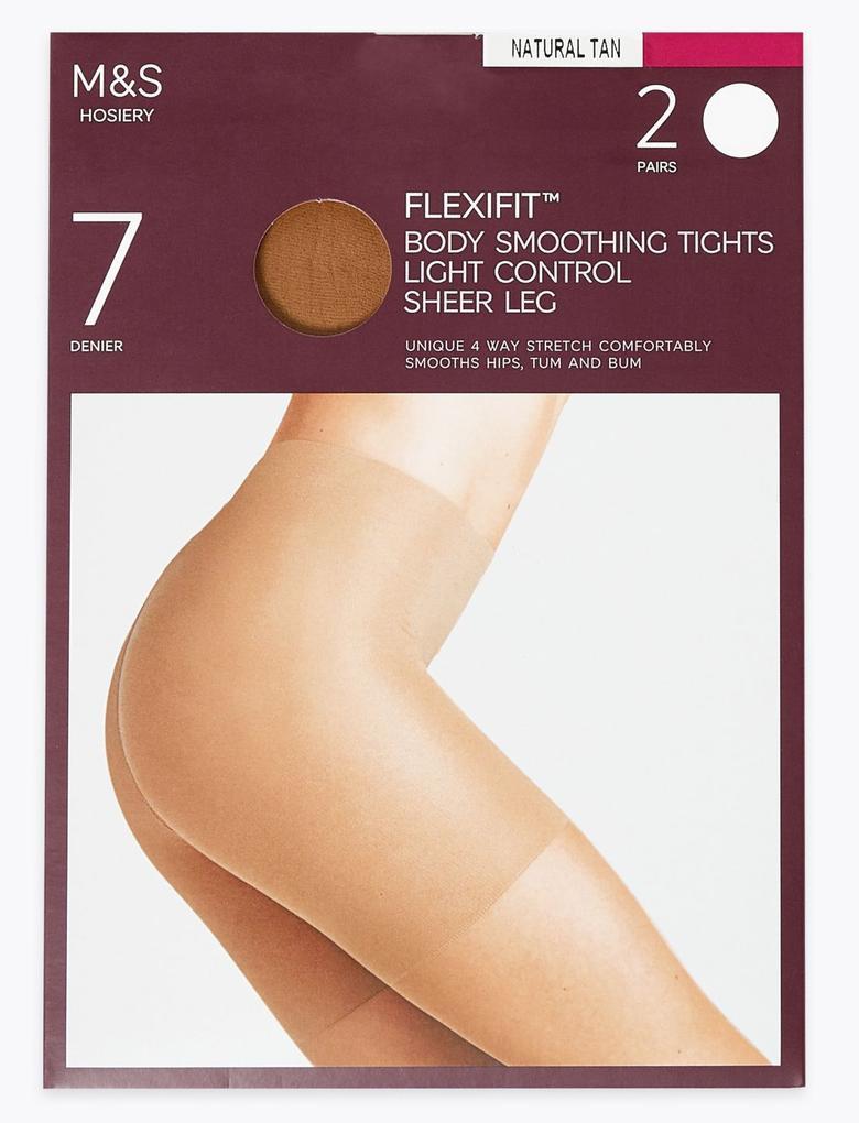 Kadın Kahverengi 2'li 7 Denye Transparan Külotlu Çorap