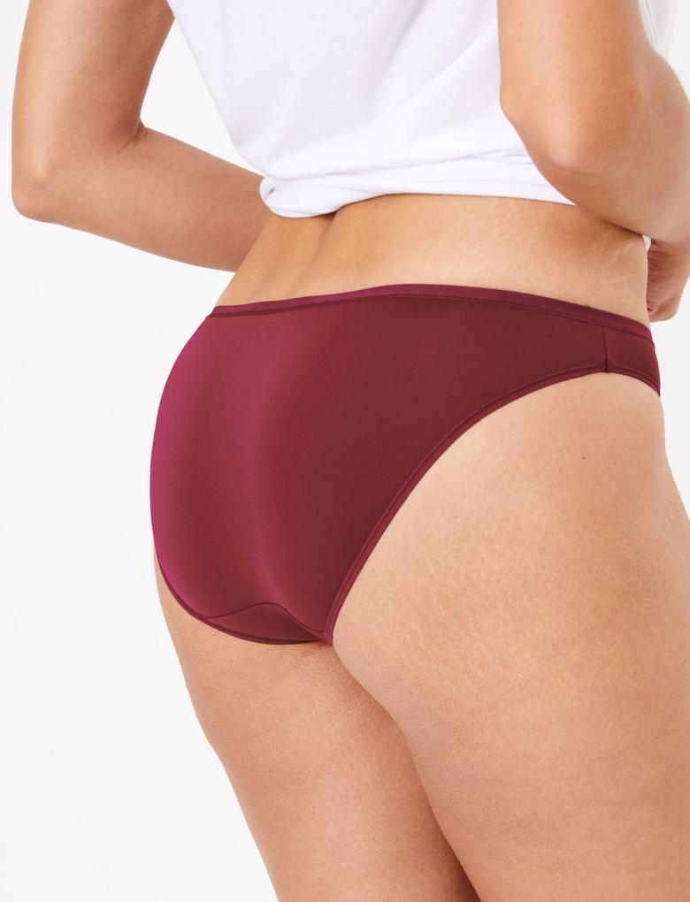 Kadın Mor 5'li Mikrofiber Bikini Külot Seti