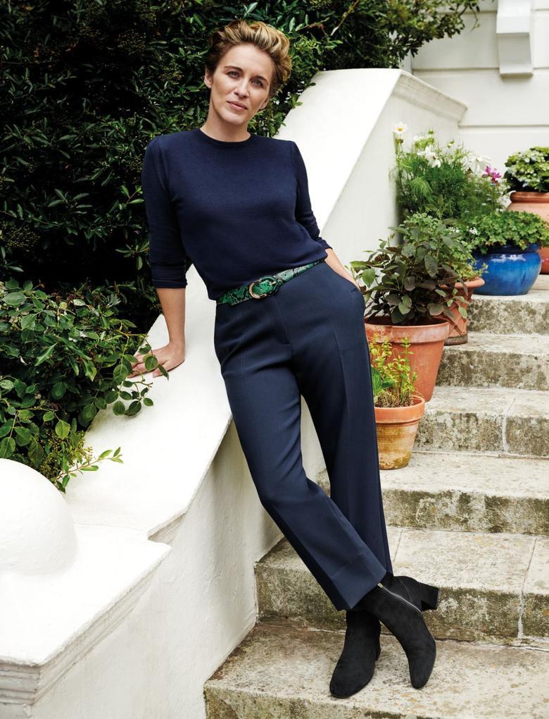 Kadın Lacivert 7/8 Evie Straight Pantolon