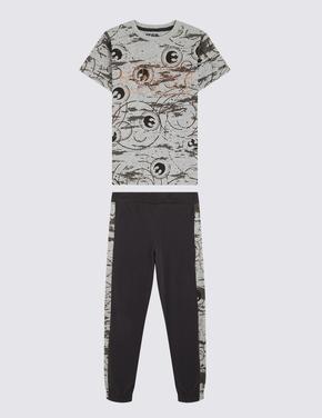Çocuk Gri Star Wars™ Kısa Kollu Pijama Takımı