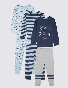 Çocuk Multi Renk 3'lü Pijama Seti