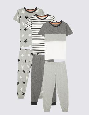 Çocuk Gri 3'lü Pijama Seti