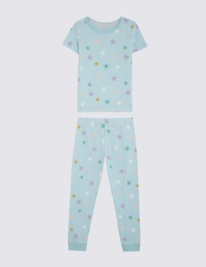 Çocuk Multi Renk 3'lü Gökkuşağı Desenli Pijama Seti