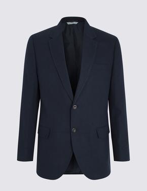 Erkek Lacivert Düğmeli Regular Fit Ceket