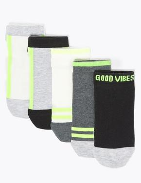 Çocuk Multi Renk 5'li Neon Çorap Seti