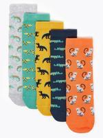 Çocuk Multi Renk 5'li Desenli Çorap Seti