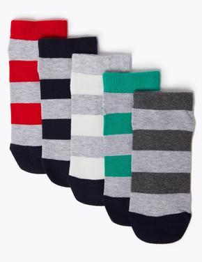 Çocuk Multi Renk 5'li Lycra® Çorap Seti