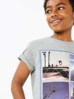Erkek Çocuk Gri Santa Monica Kısa Kollu T-Shirt