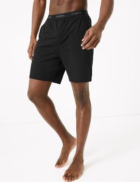 Erkek Siyah Luxury Supersoft Supima® Şort Pijama Altı