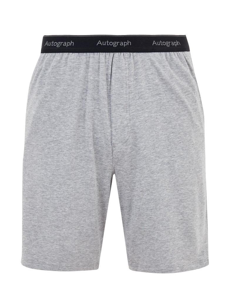 Erkek Gri Luxury Supersoft Supima® Şort Pijama Altı