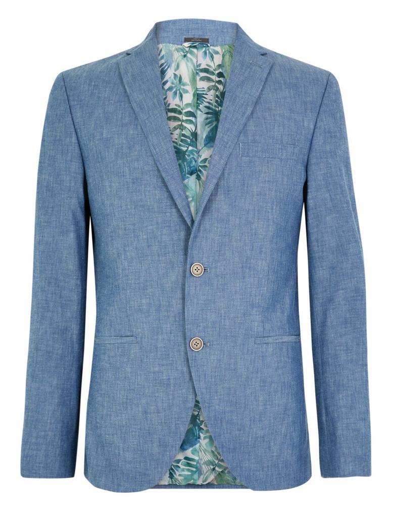 Mavi Slim Fit Şambre Ceket