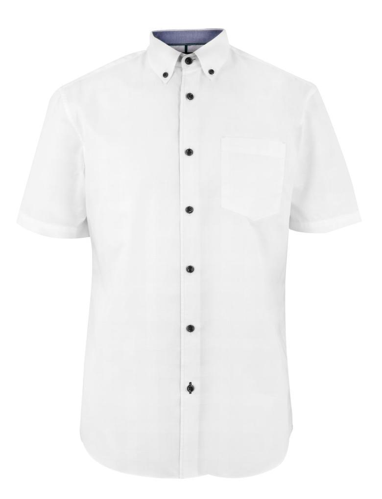 Erkek Beyaz Kısa Kollu Gömlek