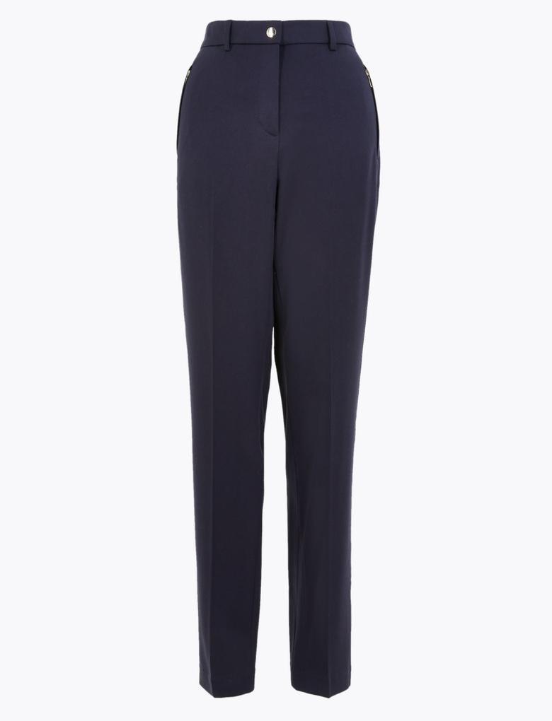 Kadın Lacivert Straight Leg Pantolon