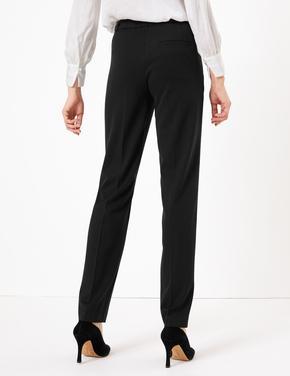 Kadın Siyah Straight Leg Pantolon