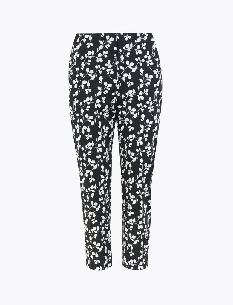 Kadın Siyah Mia Slim Fit Crop Pantolon