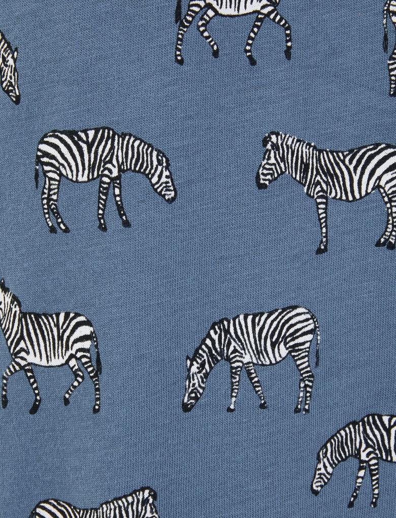 Erkek Bordo Zebra Desenli Pijama Takımı