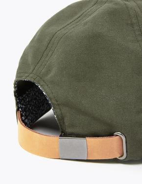 Erkek Yeşil Saf Pamuklu Şapka