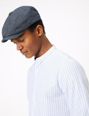 Erkek Mavi Dokulu Şapka