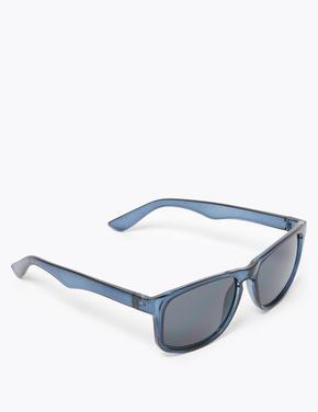 Erkek Mavi D Çerçeveli Güneş Gözlüğü