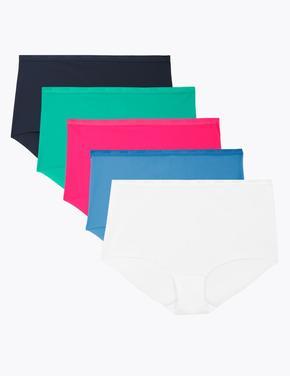 Kadın Multi Renk 5'li Full Brief Külot Seti