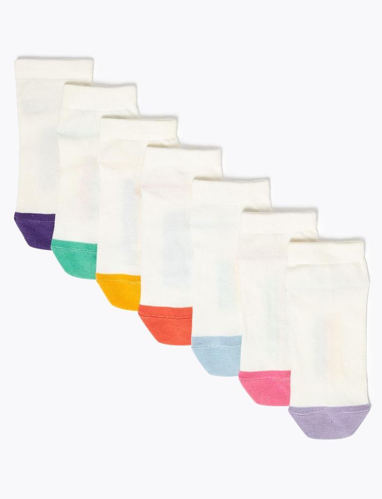 Çocuk Beyaz 7'li Haftanın Günleri Temalı Çorap Seti