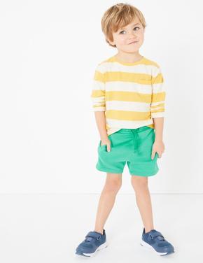 Erkek Çocuk Yeşil Bağcıklı Jarse Şort