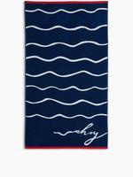 Ev Mavi Sloganlı Plaj Havlusu