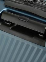 Lacivert 4 Tekerlekli Orta Boy Sert Yüzeyli Hafif Valiz (Güvenlik Fermuarı ile)